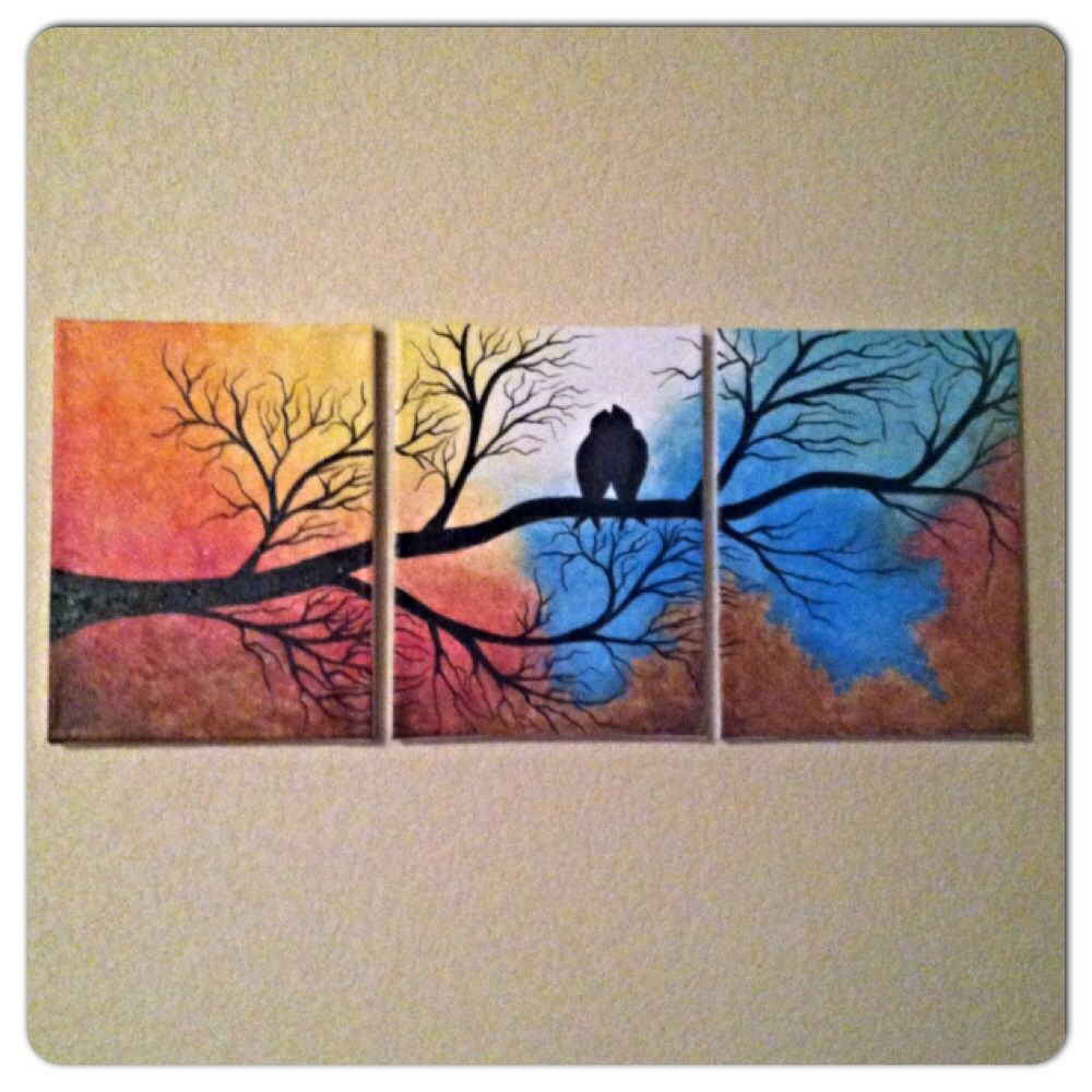 DIY personalized gift. Or house decor. 3 panel painting with ...