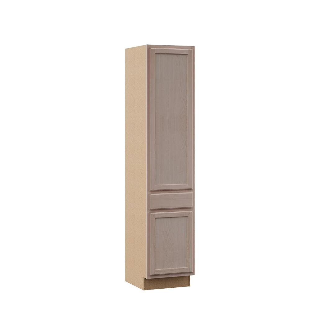 Hampton Bay Hampton Assembled 24x84x18 In Pantry Kitchen Cabinet In Unfinished Beech Kpdr2484 Uf The Home Depot Kitchen Pantry Cabinets Kitchen Cabinets For Sale Diy Walk In Closet