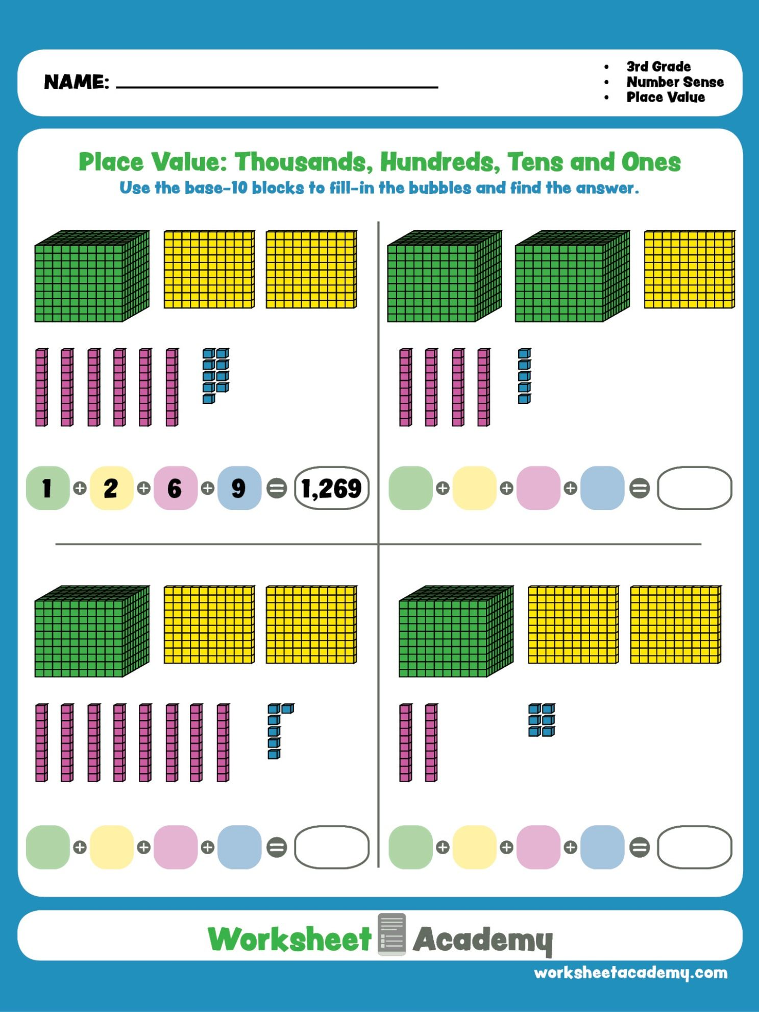 Use Base 10 Blocks To Understand Place Value