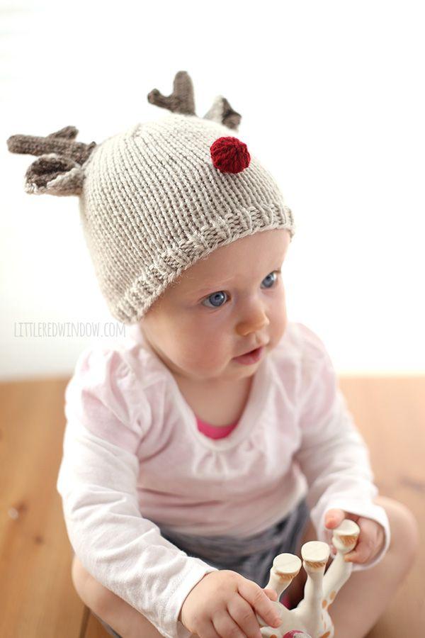 Tiny Reindeer Hat Knitting Pattern | Reindeer hat, Knitting patterns ...