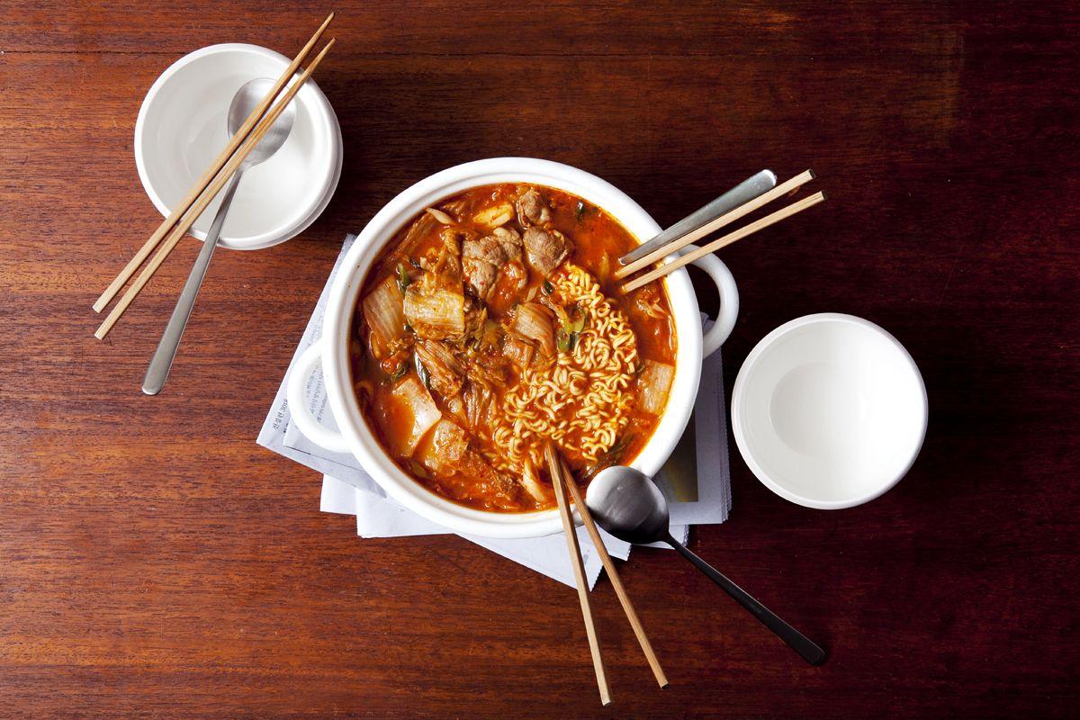 김치 라면 찌개