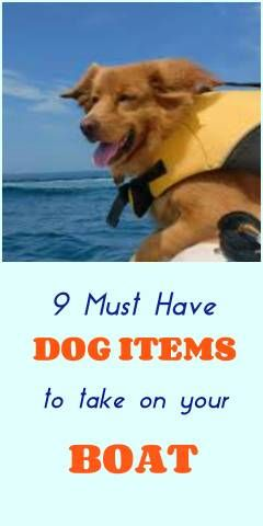 Some dogs are great swimmers; others never will be, because of fear of  the water or because they are just not anatomically built for swimming  (like long dogs with short legs). But boating enthusiasts who are dog lovers find a  way to take both swimmers and non-swimmers on their boats - to enjoy  the water or enjoy the weather. Here are 9 must have items to bring along for your dog before you pick up anchor.