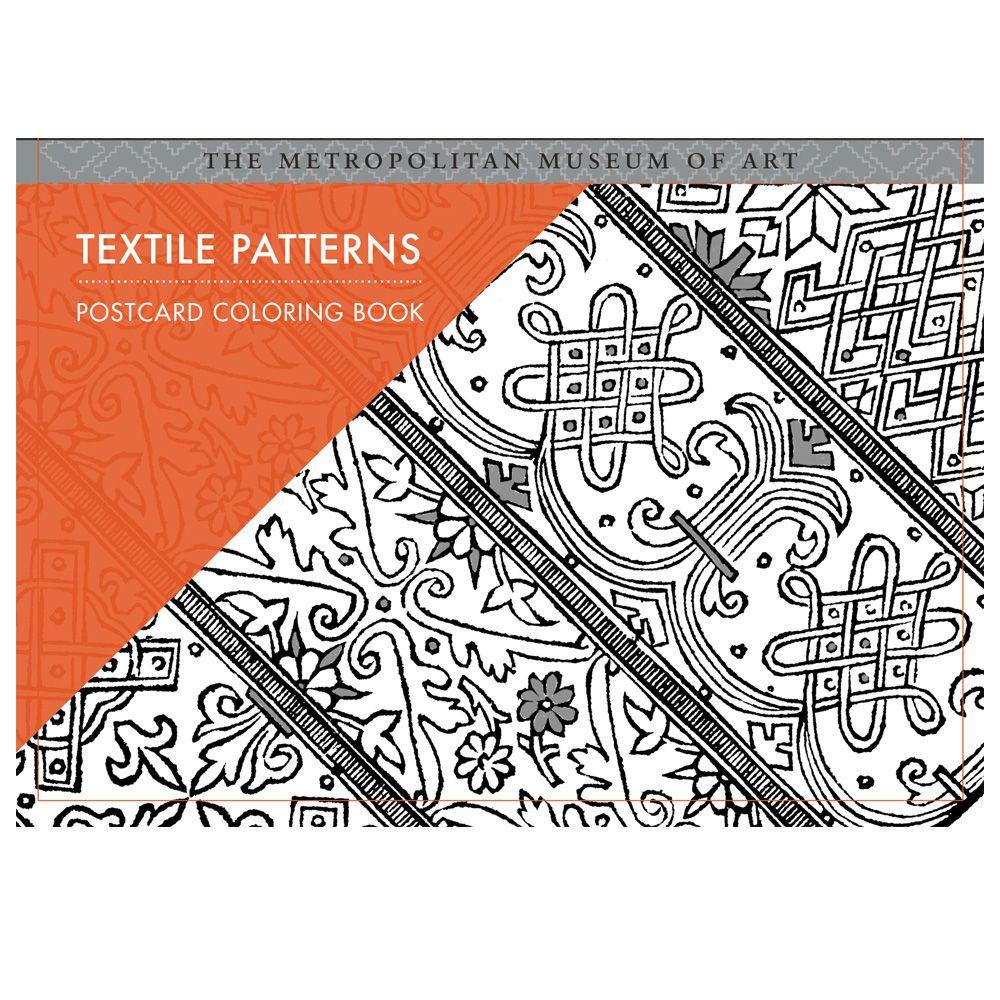 Textile Patterns Postcard Coloring Book Coloring Books Textile Patterns Pattern