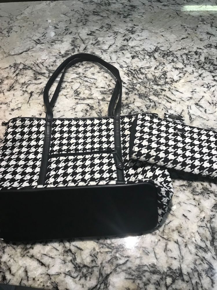 cd6d3a778d vera bradley tote bag with matching wallett black and white houndstooth   fashion  clothing  shoes  accessories  womensaccessories  accessorysets  (ebay link)