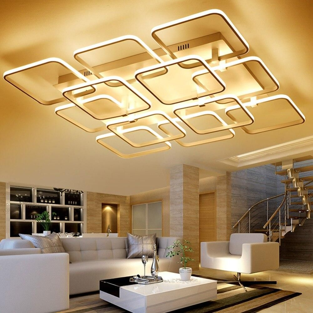 Led Chandelier Lampsquare Lights Indoor