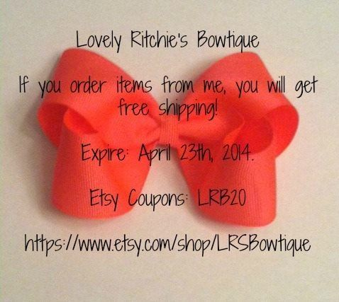 Share with everyone! Pin!! :) Etsy coupons: LRB20 for FREE SHIPPING!