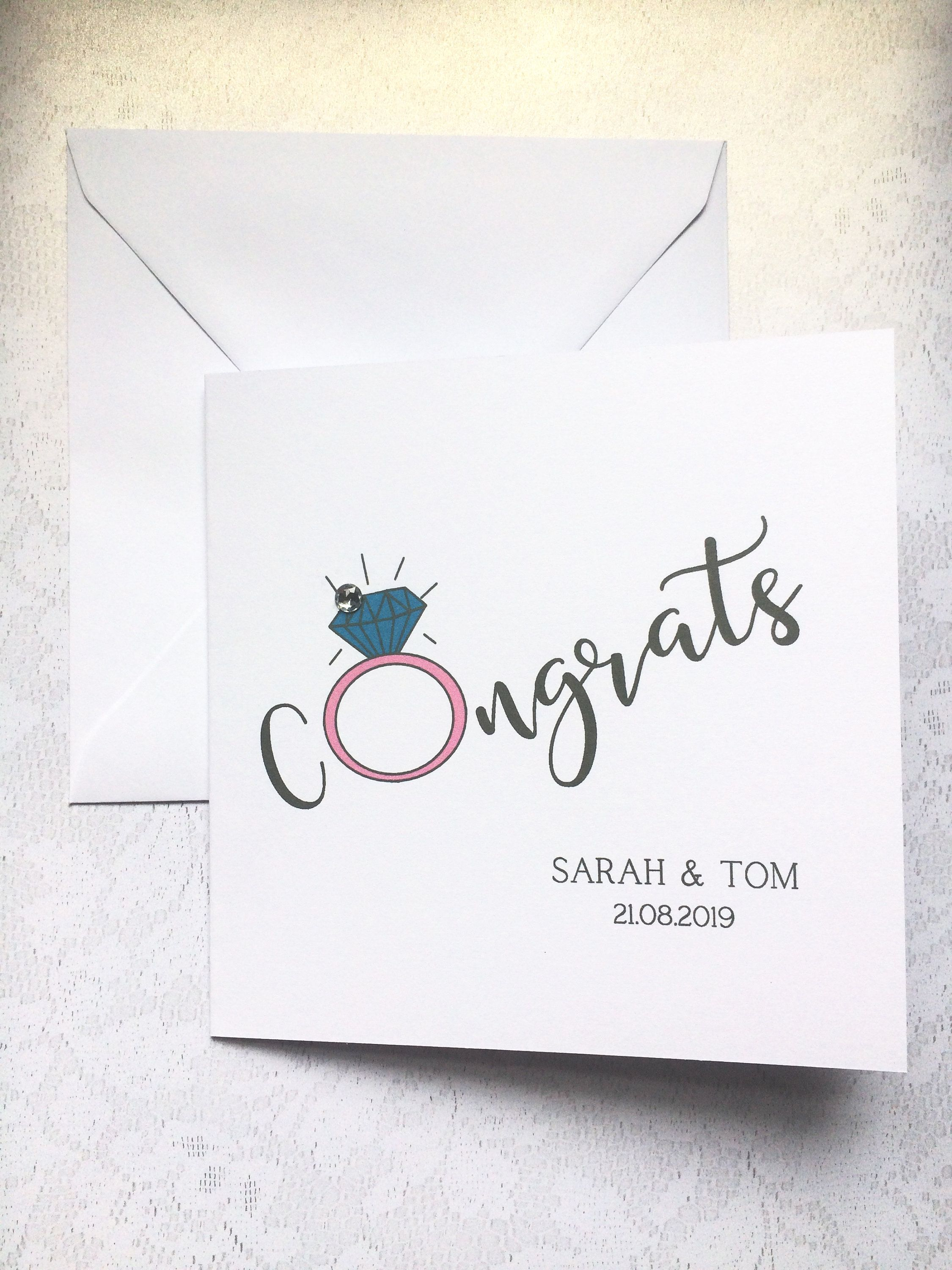 Wedding Card Personalised Engagement Card Personalised Congratulations Card You/'re engaged Engagement Card On Your Engagement Card