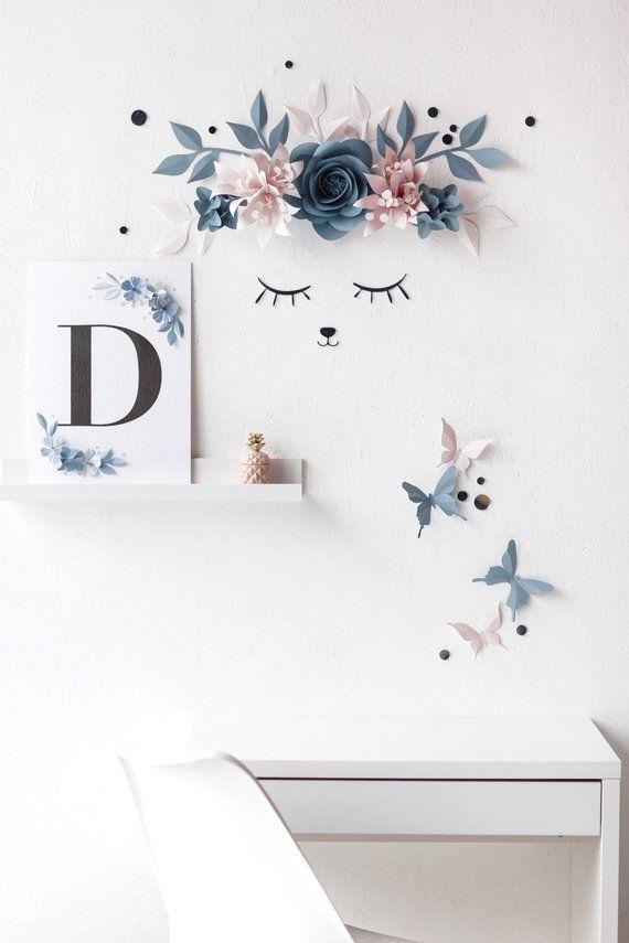 Kinderzimmer-Papierblumen - Papierblumen-Wand - Kinderzimmer-Papierblumen-Dekor #largepaperflowers