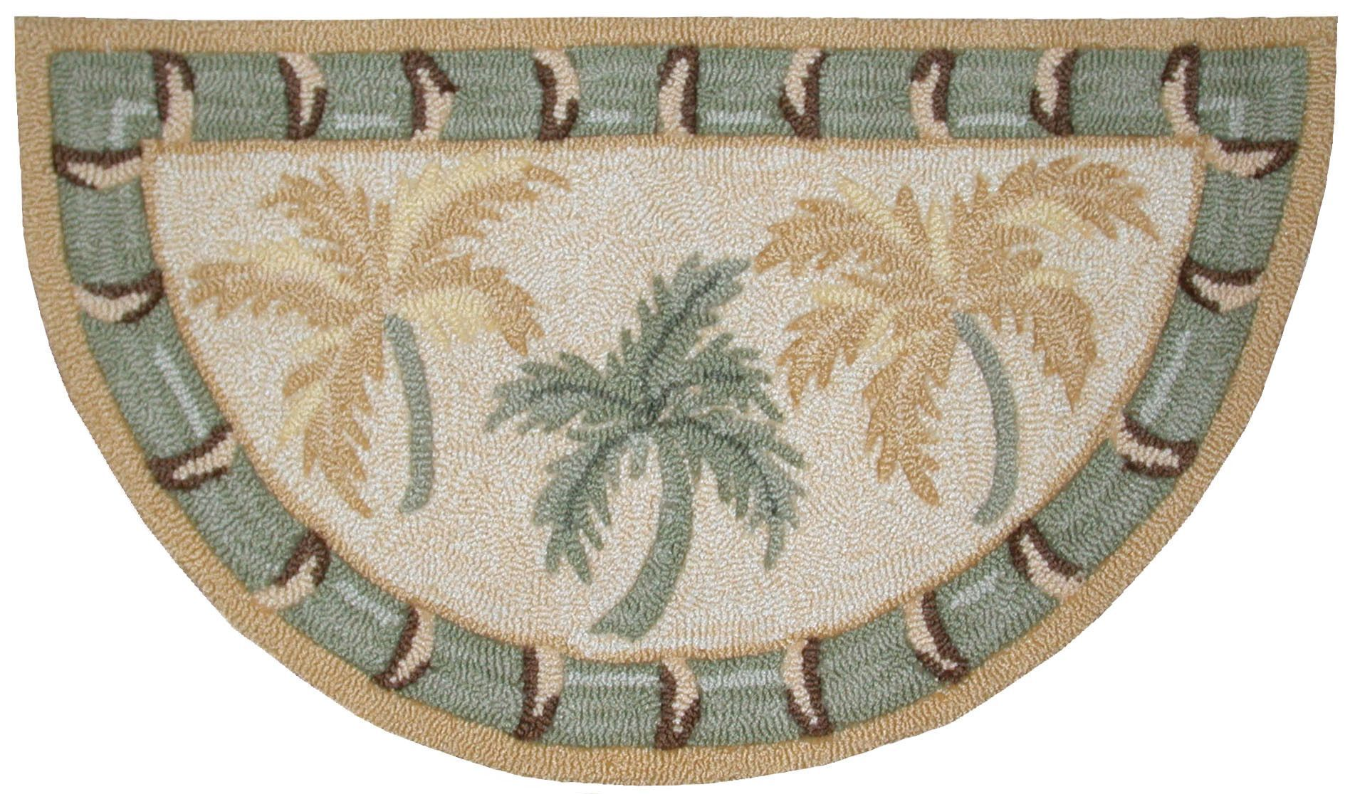 Everywhere Beige Quot Palm Tree Quot Area Rug Area Rugs Beige