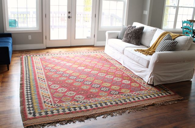Pottery Barn Ferada kilim rug | Rugs | Pinterest | Barn, Living ...