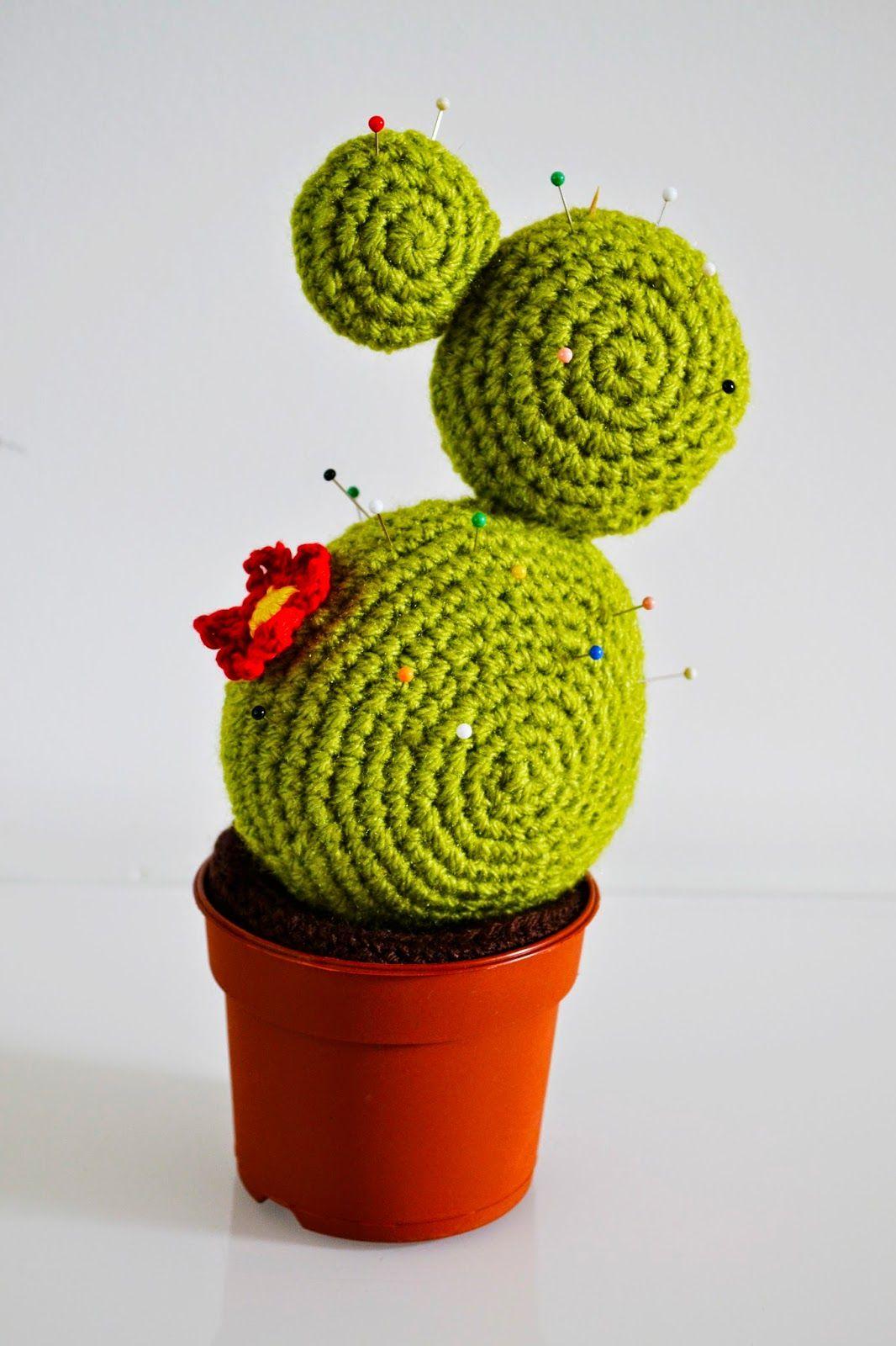 Babbebora Cactus Speldenkussen Haken Crochet Flowers Pinterest