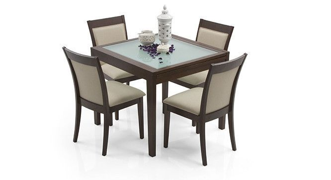 Abbot Expandable Dalla 4 Seater Dining Table Set Four Seater Dining Table 4 Seater Dining Table Apartment Dining Room Decor