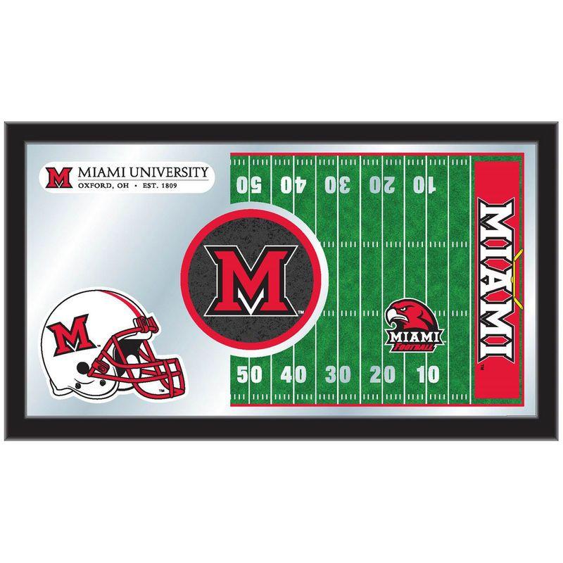 "Miami University RedHawks 15"" x 26"" Football Mirror"