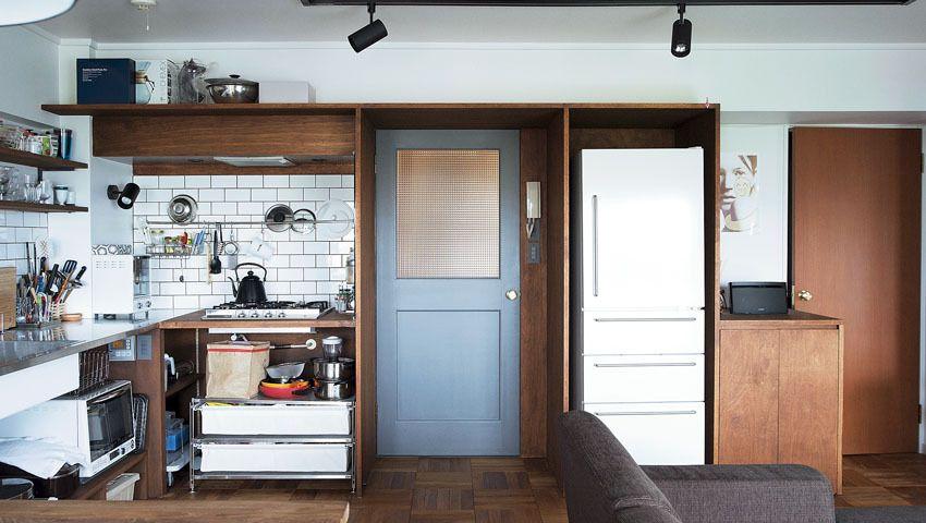 Diyで壁をペイントしたキッチン 家を建てる 家の間取り キッチン