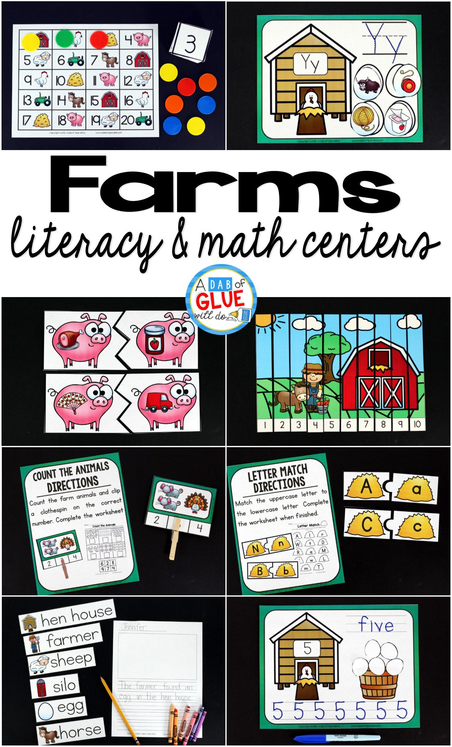 Farms Literacy And Math Centers
