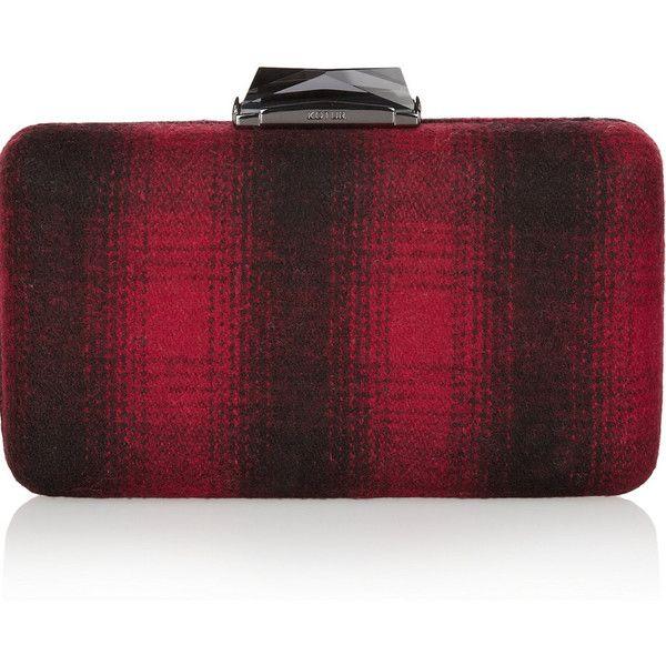 Kotur Espey plaid felt box clutch ($450) ❤ liked on Polyvore