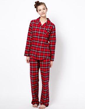 Esprit Xmas Classy Check Pyjama In Gift Box