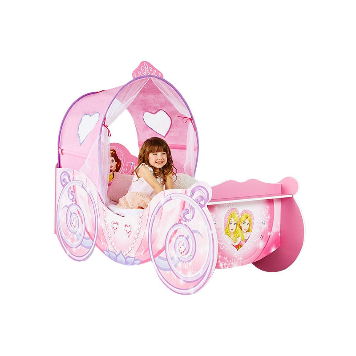 Disney Princess Carriage Feature Toddler Bed Plus Fully Sprung