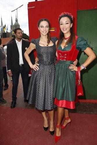 Lilly Becker in Mothwurf und Verona Pooth auf dem Oktoberfest 2012