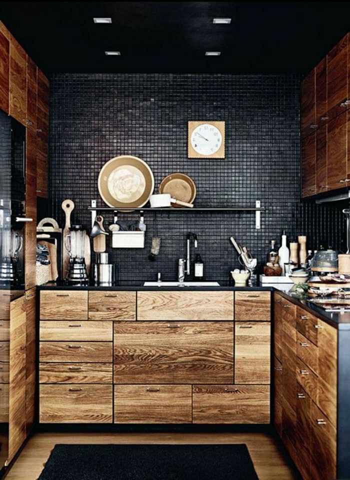 massive m bel holz schwarz wand k che k che pinterest wand k che massiv m bel und. Black Bedroom Furniture Sets. Home Design Ideas