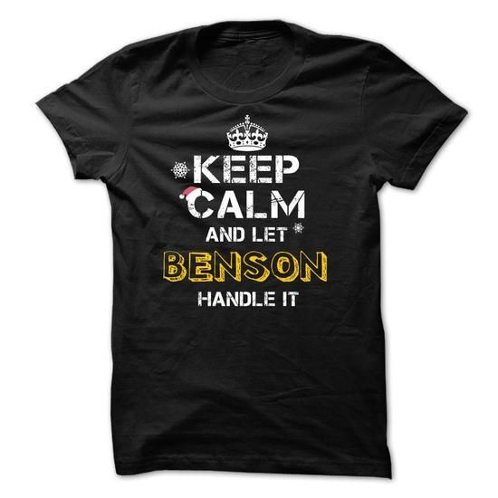 Keep calm and Let BENSON Handle it TeeMaz - #white shirt #hoodie design. CHECKOUT => https://www.sunfrog.com/Names/Keep-calm-and-Let-BENSON-Handle-it-TeeMaz.html?68278