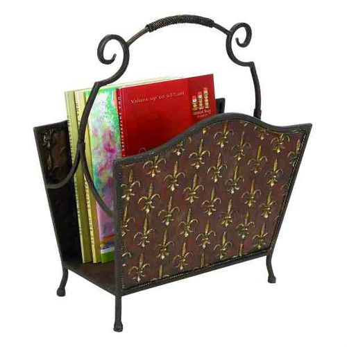 Metal Fleur Di Lis Decorative Magazine Holder 40H X 40W EBay Best Decorative Magazine Holders