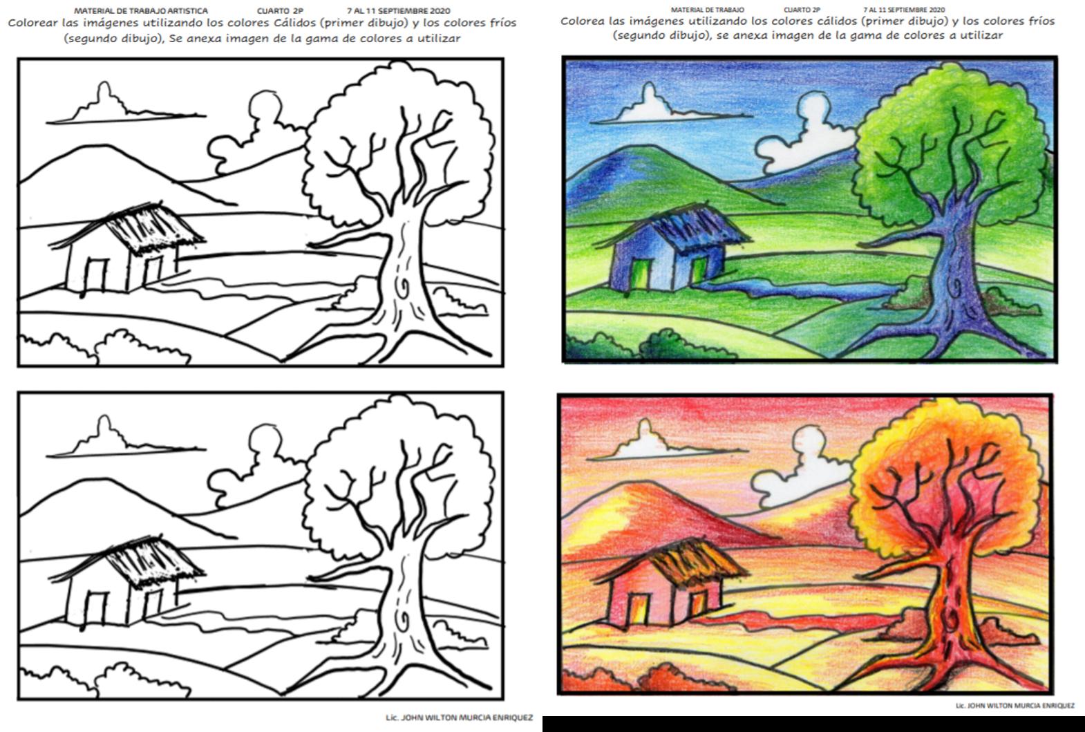 Calidos Y Frios Colores Calidos Y Frios Dibujos Calidos Y Frios Dibujos Con Colores Calidos