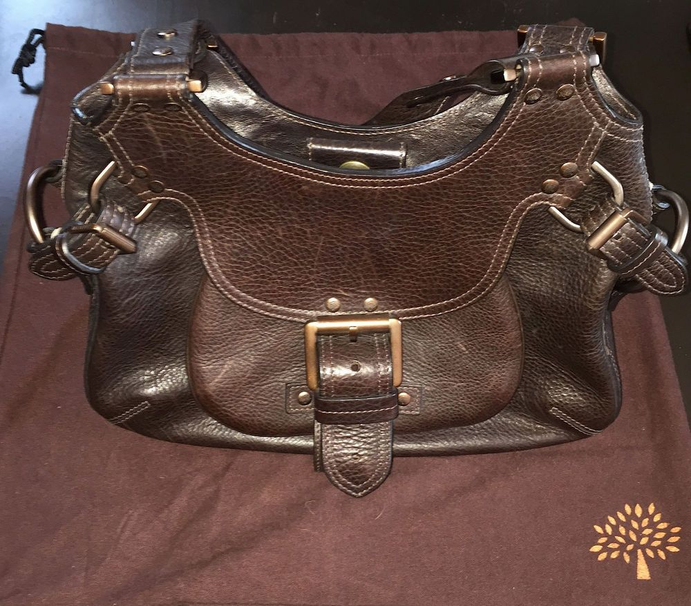 Authentic Vintage Mulberry Phoebe Bag Dark Brown Leather  Mulberry   ShoulderBag aa9dd1b934f9a