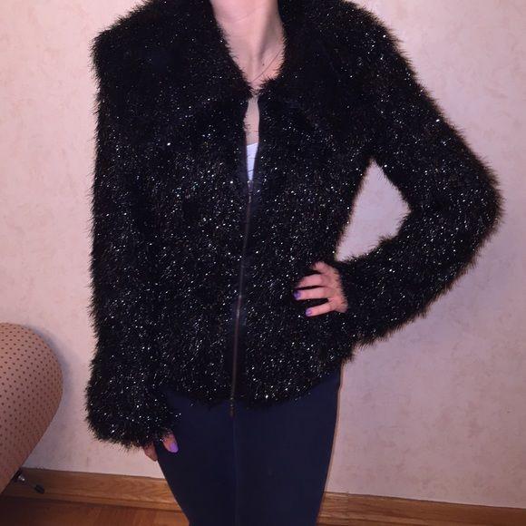 Armani Collezioni Black Jacket Armani Collezioni black shiny blazer/jacket. Size 48 - fits US size 6. Dramatic hood can be buttoned. Perfect condition. Armani  Jackets & Coats
