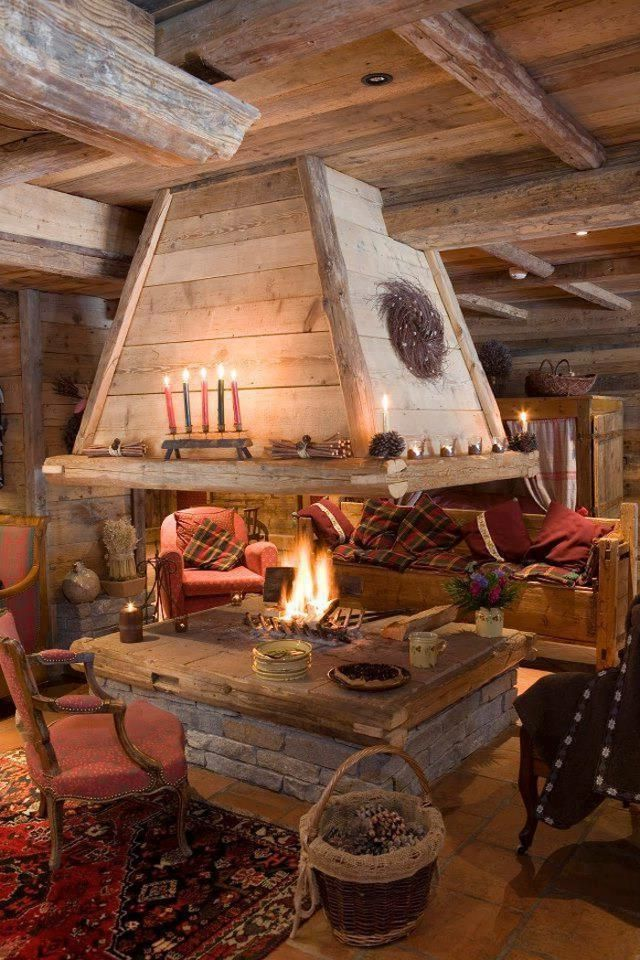 Reminds Me Of A Ski Lodge Comfy Amp Homey In 2019 Log