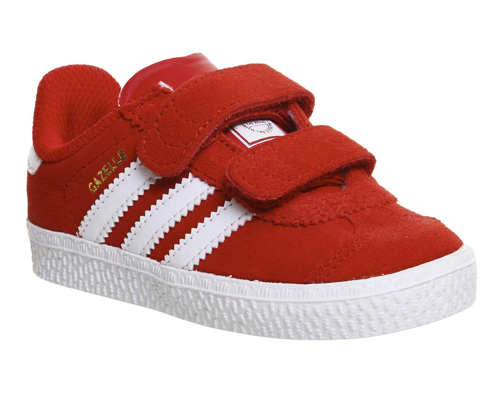 Buy Lush Red White Adidas Gazelle 2 Infant from OFFICE.co.uk