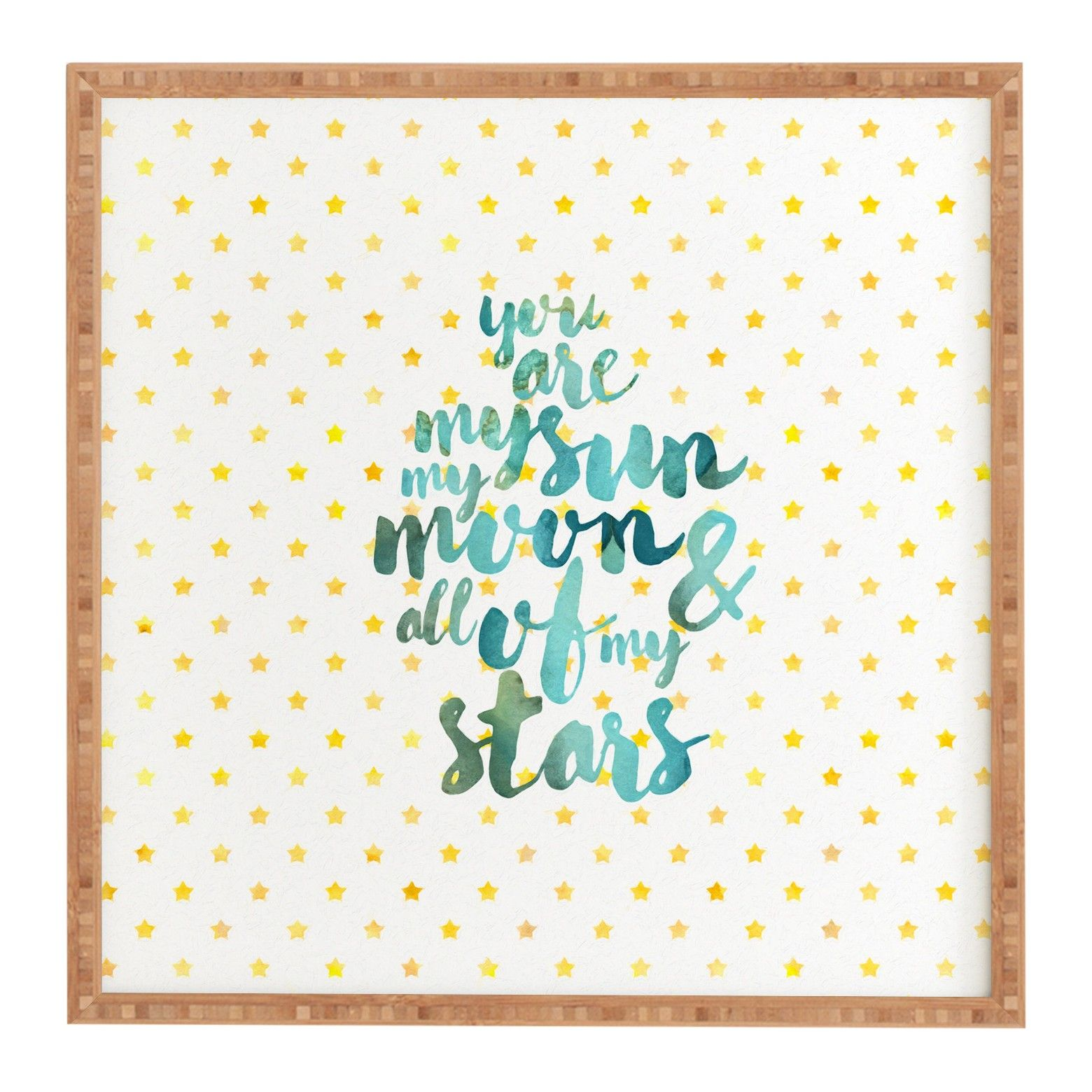 """Hello Sayang You Are My Sun My Moon And All Of My Stars Framed Wall Art 12"""" x 12"""" - Deny Designs"""