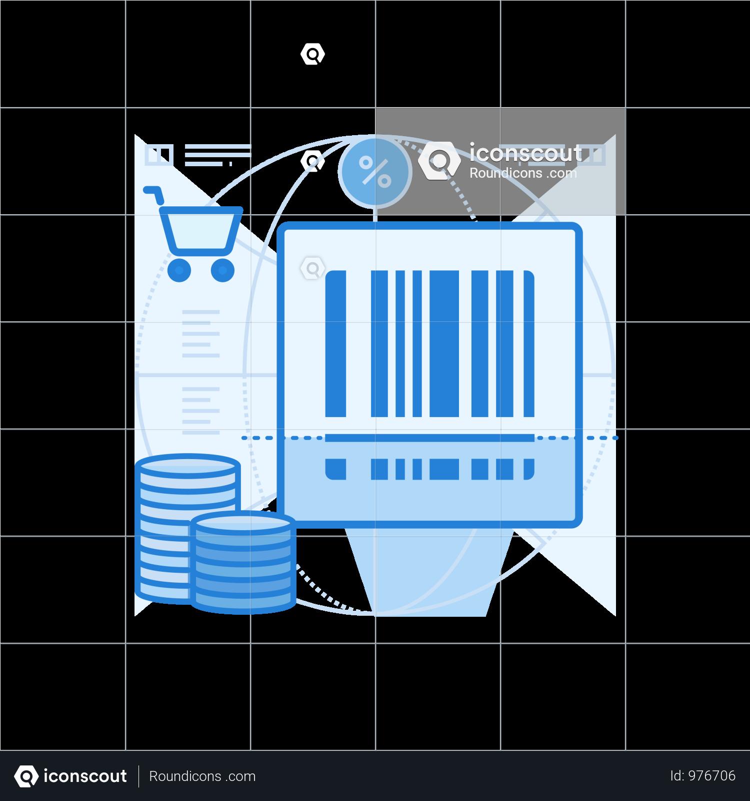 Barcode Scan Illustration Illustration