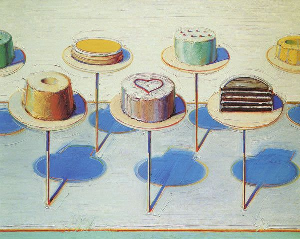 Wayne Thiebaud is one of my favorite artists. The paint is like ...