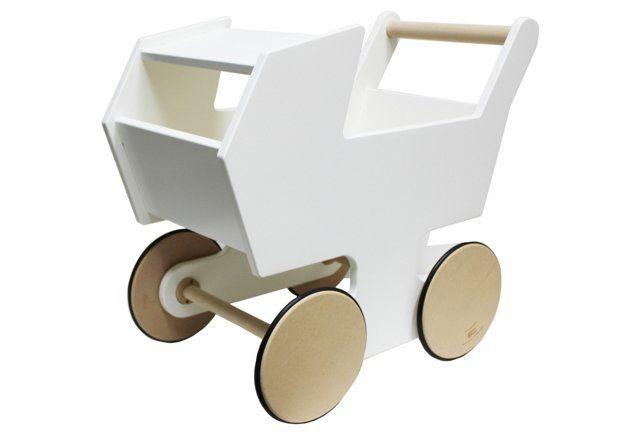 Stroller Push Cart, White