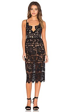 For Love & Lemons Gianna Dress in Black