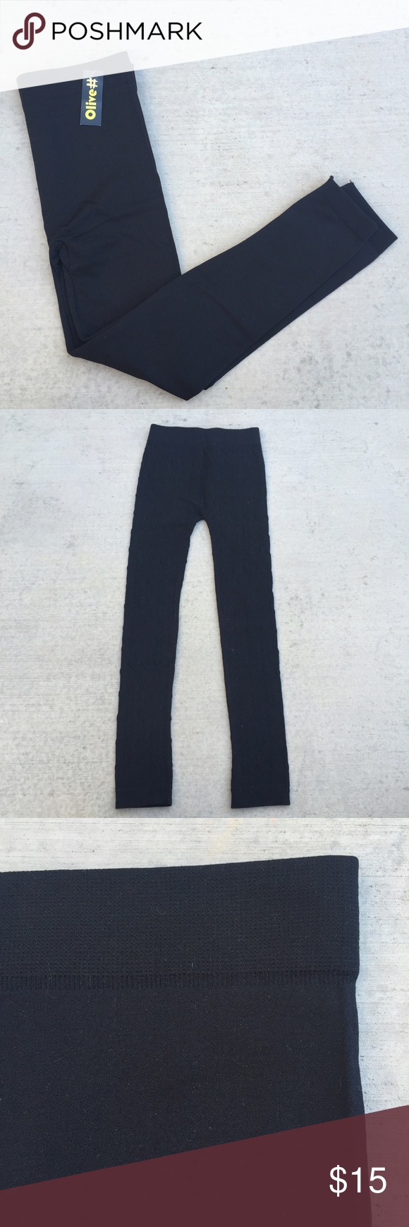 Fleece Lined Leggings • 65% poly / 20% cotton / 15% spandex • Seamless on the sides and waistband for a smooth finish either layered under or worn alone • Plush / brushed fleece lined! Super cozy and warm! Pants Leggings