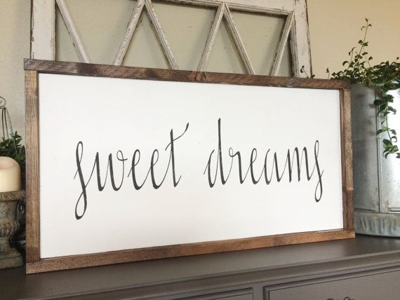 Sweet Dreams Wood Sign By Jojoraehome On Etsy Daughter Lacey In