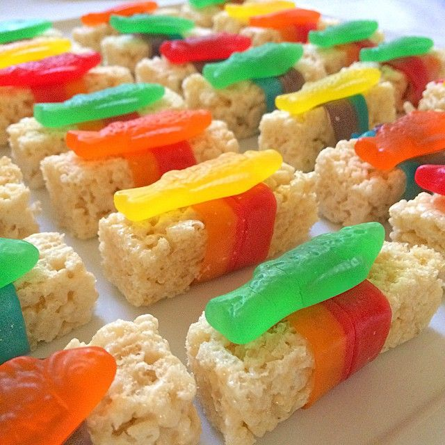 Candy Sushi for an Asian dinner party dessert!