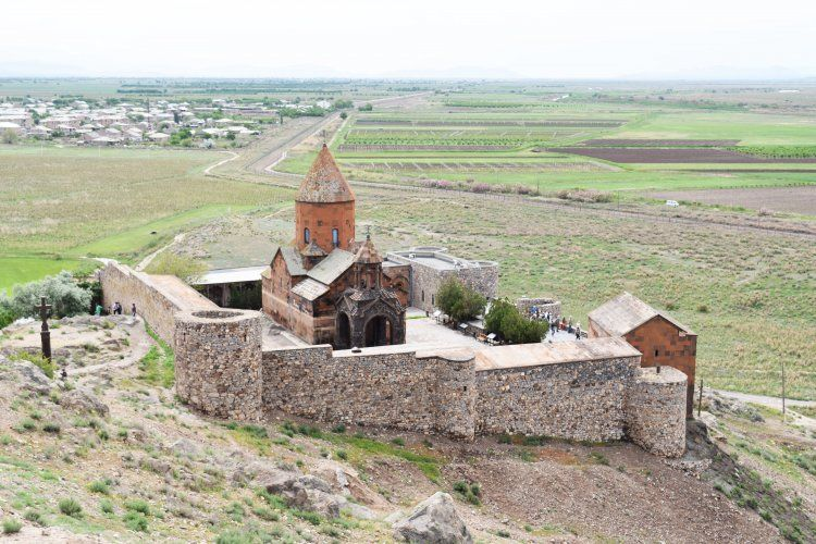 Khor Virap Monastery:  the site where Saint Gregory the Illuminator (c.257 – c.331 CE) was imprisoned by Tiridates III of Armenia (r. 287–330 CE) for his Christian beliefs.