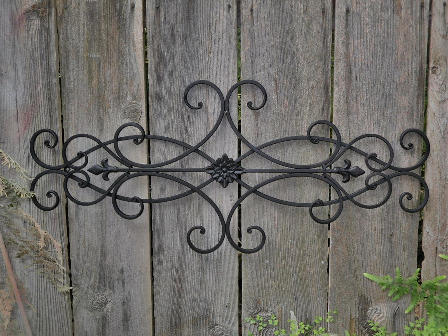 Decorative Metal Wall Art Wrought Iron Wall Decor Indoor Outdoor Cottage Style Fleur De Exterior Wall Art Iron Wall Decor Wrought Iron Wall Decor