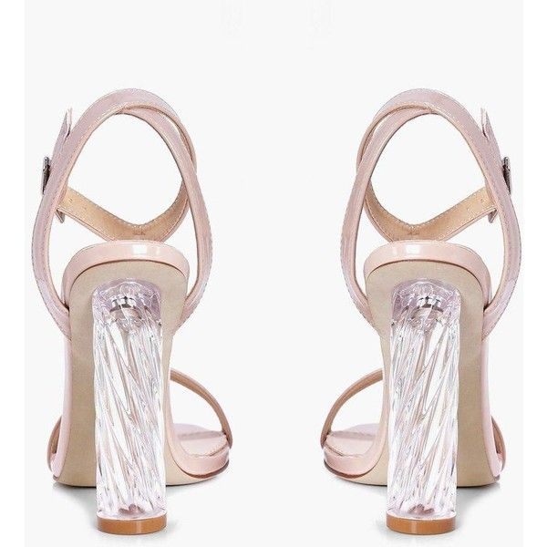 5c6d45cdc5 Boohoo Laura Two Part Cylinder Unicorn Clear Heel | Boohoo ($44) ❤ liked on  Polyvore featuring shoes, block heel shoes, transparent heel shoes, ...
