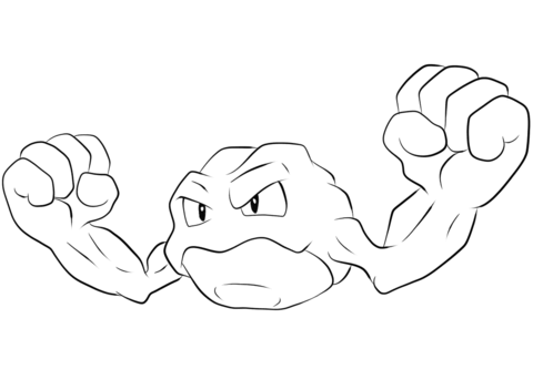 Geodude Coloring Page Free Printable Coloring Pages Pokemon Coloring Pages Mermaid Coloring Pages Pokemon Coloring