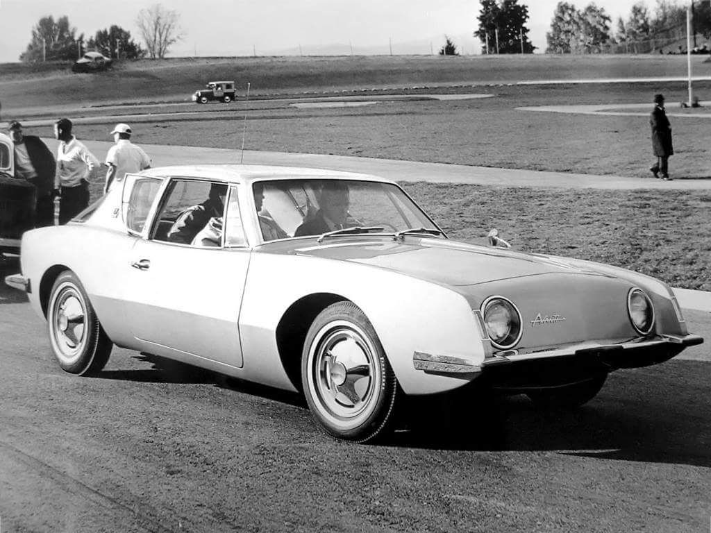 1963 avanti on the test track