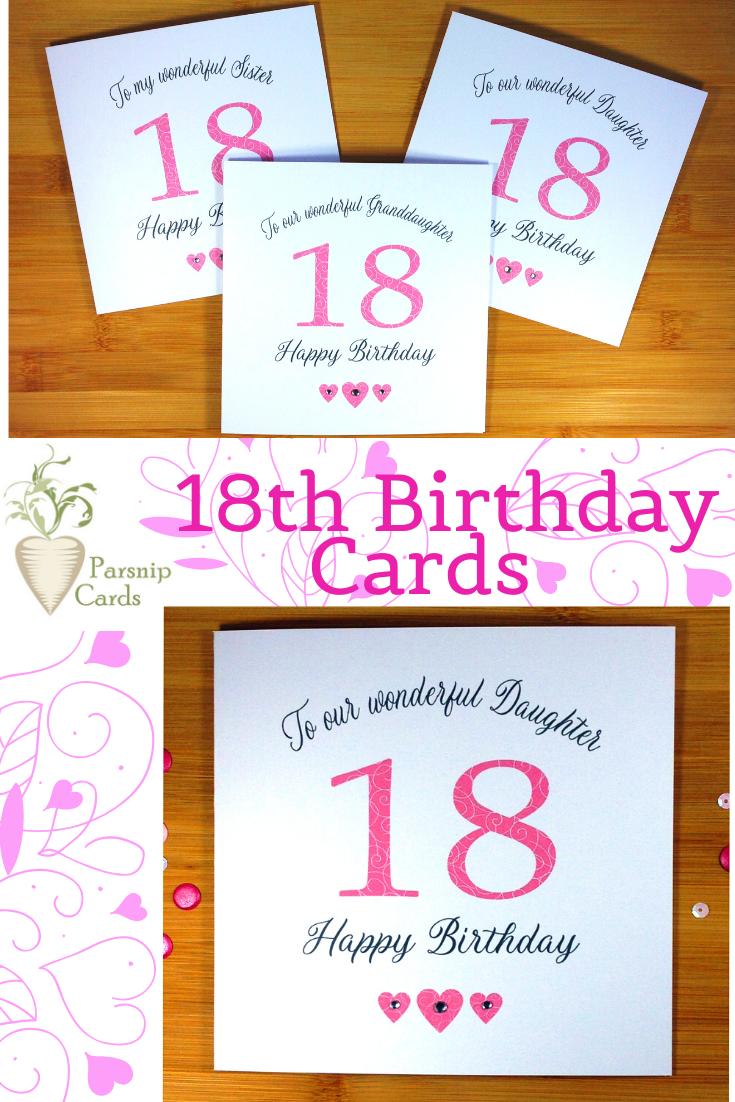 18th Birthday Card 18th Birthday Cards Birthday Cards For Friends Birthday Cards For Her