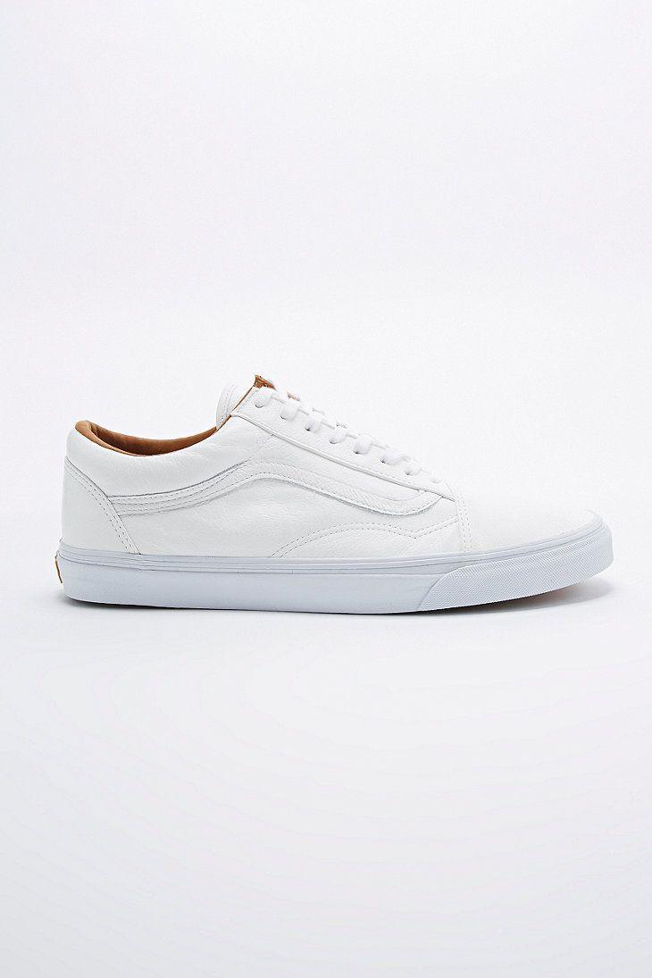 Vans | Baskets Homme Blanc Vans Old Skool White and Vintage Navy Trainers Ivory