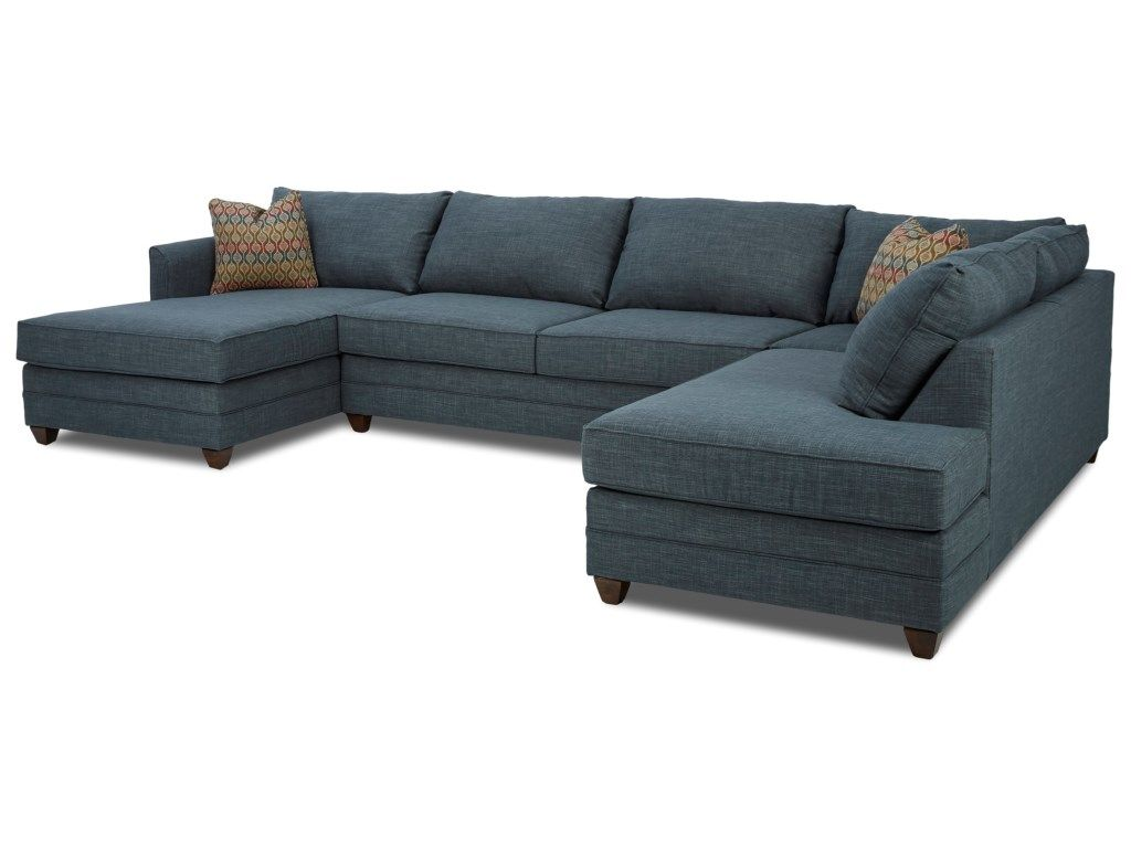Tilly Three Piece Sectional Sofa With Laf Chaise By