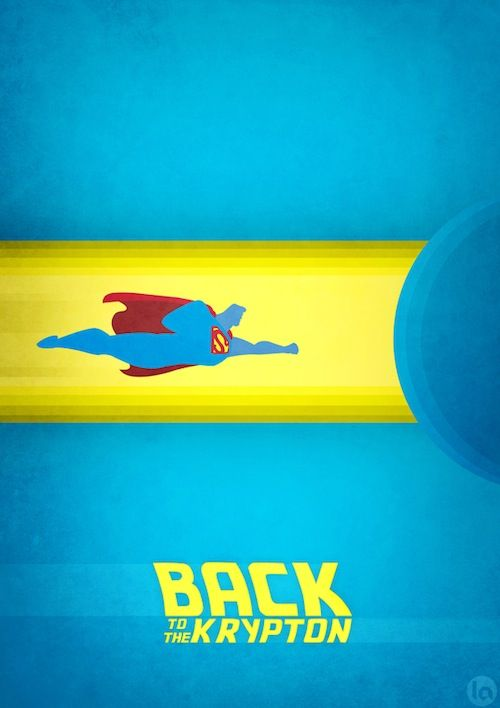 Clever Posters That Cast Superheroes in Famous Films by Luiz Arthuso
