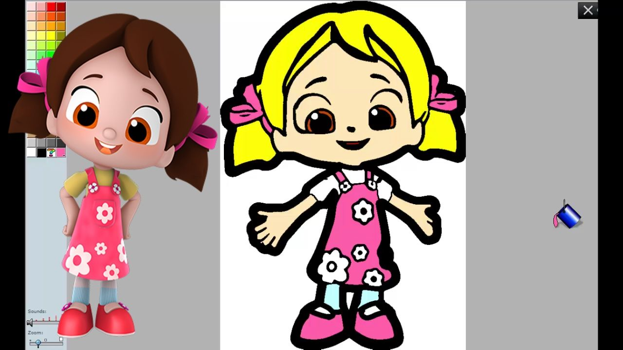 Egitici Cocuk Tv Adli Kullanicinin Boyama Oyunlari Panosundaki Pin Oyun Film Animasyon