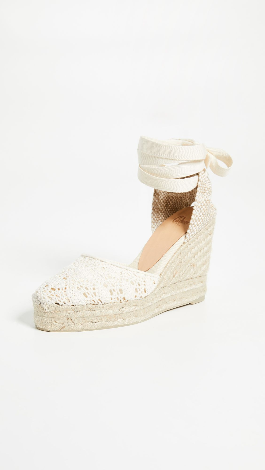 Carina Eyelet Wedges In 2020 Bridal Sandals Wedges Wedding Wedges